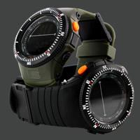 Herren Armbanduhr, Silikon, mit ABS Kunststoff, für den Menschen, keine, 45mm, Länge:ca. 8 ZollInch, verkauft von PC