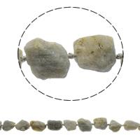 Natürliche graue Quarz Perlen, Grauer Quarz, 17-27mm, Bohrung:ca. 1mm, ca. 16PCs/Strang, verkauft per ca. 16.5 ZollInch Strang