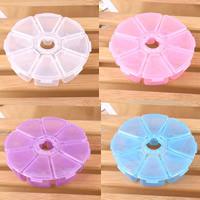 Schmuck Nagelkasten, Kunststoff, Blume, transparent & 8 Zellen, keine, 107x27mm, verkauft von PC
