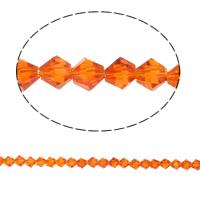 Doppelkegel Kristallperlen, Kristall, facettierte, Siam, 5x5mm, Bohrung:ca. 0.5mm, Länge:11.5 ZollInch, 10SträngeStrang/Tasche, verkauft von Tasche