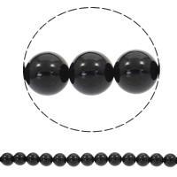 Natürliche schwarze Achat Perlen, Schwarzer Achat, rund, synthetisch, verschiedene Größen vorhanden, Bohrung:ca. 1mm, verkauft per ca. 15 ZollInch Strang