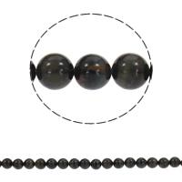 Natürliche blaue Achat Perlen, Schwarzer Achat, rund, synthetisch, verschiedene Größen vorhanden, Bohrung:ca. 1mm, verkauft per ca. 15.5 ZollInch Strang