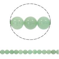 Grüner Aventurin Perle, rund, synthetisch, verschiedene Größen vorhanden, Bohrung:ca. 1mm, verkauft per ca. 15 ZollInch Strang