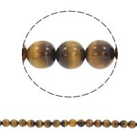 Tigerauge Perlen, rund, synthetisch, verschiedene Größen vorhanden, Bohrung:ca. 1mm, verkauft per ca. 15 ZollInch Strang