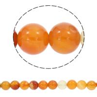 Natürlich rote Achat Perlen, Roter Achat, rund, synthetisch, verschiedene Größen vorhanden, Bohrung:ca. 1mm, verkauft per ca. 15.5 ZollInch Strang