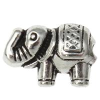 Zinklegierung Tier Perlen, Elephant, antik silberfarben plattiert, frei von Nickel, Blei & Kadmium, 12x9x4mm, Bohrung:ca. 1mm, 200PCs/Tasche, verkauft von Tasche