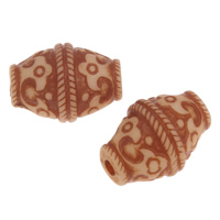 Imitation Ox Bone Acryl-Perlen, Acryl, Doppelkegel, Imitation Rind Knochen, hell Kaffee, 23x10mm, Bohrung:ca. 2mm, 2Taschen/Menge, ca. 340PCs/Tasche, verkauft von Menge