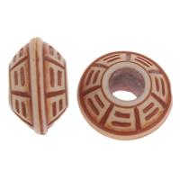 Imitation Ox Bone Acryl-Perlen, Acryl, Rondell, Imitation Rind Knochen, Kaffeefarbe, 11x6mm, Bohrung:ca. 3.5mm, 2Taschen/Menge, ca. 1570PCs/Tasche, verkauft von Menge