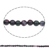 Natürliche Regenbogen Achat Perlen, rund, verschiedene Größen vorhanden & facettierte, farbenfroh, Bohrung:ca. 1mm, Länge:ca. 15 ZollInch, verkauft von Tasche