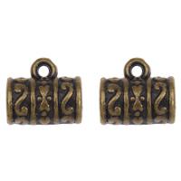 Acryl Stiftöse Perlen, Zylinder, antike Bronzefarbe plattiert, 12x11x8mm, Bohrung:ca. 1mm, 4mm, 2Taschen/Menge, ca. 190PCs/Tasche, verkauft von Menge