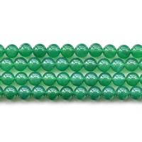 Natürliche grüne Achat Perlen, Grüner Achat, rund, verschiedene Größen vorhanden, verkauft per ca. 15.5 ZollInch Strang