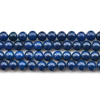 Natürliche blaue Achat Perlen, Blauer Achat, rund, verschiedene Größen vorhanden, Bohrung:ca. 1mm, verkauft per ca. 15.5 ZollInch Strang