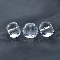 Natürliche klare Quarz Perlen, Klarer Quarz, Trommel, verschiedene Größen vorhanden & facettierte, Bohrung:ca. 1mm, verkauft von PC