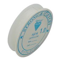 Kristall Faden, mit Kunststoffspule, elastisch, 0.4mm, 10PCs/Menge, 10m/PC, verkauft von Menge