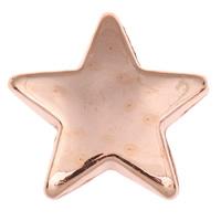 Acryl Schmuck Perlen, Stern, originale Farbe, 22x21x5mm, Bohrung:ca. 1mm, ca. 550PCs/Tasche, verkauft von Tasche