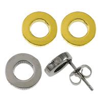 Edelstahl Ohrringe, Kreisring, plattiert, keine, 8x12mm, verkauft von Paar