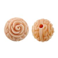 Riesenmuscheln Perlen, Riesenmuschel, Blume, geschnitzt, 10x10x10mm, Bohrung:ca. 1.5mm, 20PCs/Menge, verkauft von Menge