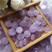 Natürliche Amethyst Perlen, flache Runde, Februar Birthstone & verschiedene Größen vorhanden, Bohrung:ca. 1mm, 50PCs/Tasche, verkauft von Tasche