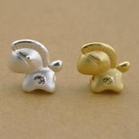 99% Perle, Pferd, plattiert, keine, frei von Nickel, Blei & Kadmium, 14x14x6mm, Bohrung:ca. 2.5mm, 10PCs/Menge, verkauft von Menge