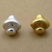 99% Großes Loch Perlen, Pilz, plattiert, keine, 13x14x10mm, Bohrung:ca. 3mm, 5PCs/Menge, verkauft von Menge