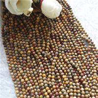 Leopardhaut Stein, rund, natürlich, verschiedene Größen vorhanden, Bohrung:ca. 1mm, Länge:ca. 15.7 ZollInch, verkauft von Menge