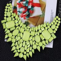 Mode Statement Halskette, Zinklegierung, mit Eisenkette & Harz, mit Verlängerungskettchen von 5cm, metallschwarz plattiert, Twist oval & facettierte, frei von Nickel, Blei & Kadmium, 450mm, verkauft per ca. 17.5 ZollInch Strang