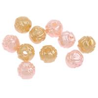 Imitation Acryl-Perlen, Acryl, Blume, Nachahmung Perle, keine, 7mm, Bohrung:ca. 2mm, 2Taschen/Menge, ca. 1600PCs/Tasche, verkauft von Menge