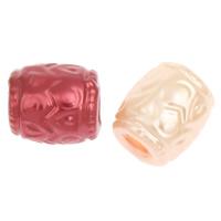 Imitation Acryl-Perlen, Acryl, Zylinder, Nachahmung Perle & großes Loch, keine, 8x7mm, Bohrung:ca. 4mm, 2Taschen/Menge, ca. 2500PCs/Tasche, verkauft von Menge