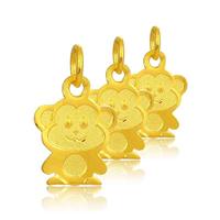 24 Karat Gold Anhänger, Affe, 8.20x13.60mm, Bohrung:ca. 3mm, verkauft von PC