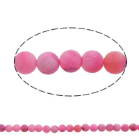 Natürliche Effloresce Achat Perlen, Auswitterung Achat, rund, verschiedene Größen vorhanden, Bohrung:ca. 1mm, Länge:ca. 15 ZollInch, verkauft von Menge