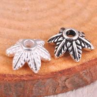 925 Sterling Silber Perlenkappe, Blume, gemischte Farben, 8x3.5mm, Bohrung:ca. 1.5mm, 10PCs/Tasche, verkauft von Tasche