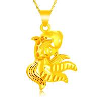 24 k-Gold überzogene hängende Farbe, Messing, Goldfisch, 24 K vergoldet, Blume Schnitt & Vakuum Protektor Farbe & hohl, 21x32mm, Bohrung:ca. 3x5mm, 10PCs/Menge, verkauft von Menge