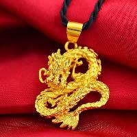 24 k-Gold überzogene hängende Farbe, Messing, Drachen, 24 K vergoldet, Blume Schnitt & Vakuum Protektor Farbe, 30x35mm, Bohrung:ca. 3x5mm, 10PCs/Menge, verkauft von Menge