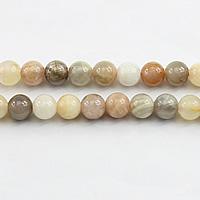 Mondstein Perlen, rund, verschiedene Größen vorhanden, Bohrung:ca. 1mm, Länge:ca. 15.5 ZollInch, verkauft von Menge