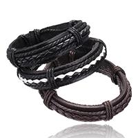 PU Schnur Armbänder, PU Leder, mit Nylonschnur, einstellbar, keine, 15mm, verkauft per 7 ZollInch Strang