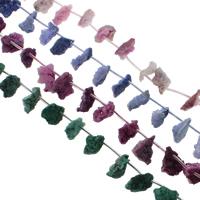 Druzy Beads, Eisquarz Achat, natürlich, druzy Stil, keine, 10x16-14x20mm, Bohrung:ca. 1mm, 21PCs/Strang, verkauft per ca. 15.5 ZollInch Strang