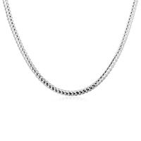 comeon® Schmuck Halskette, Messing, versilbert, Fischgräten-Kette, frei von Nickel, Blei & Kadmium, 5mm, verkauft per ca. 20 ZollInch Strang