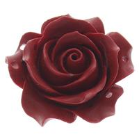 Cinnabaris Schmuckverbinder, Blume, 2/2-Schleife, rot, 35x36x14mm, Bohrung:ca. 1mm, 10PCs/Tasche, verkauft von Tasche