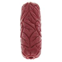 Zinnoberrot Perlen, Cinnabaris, Zylinder, rot, 10x31mm, Bohrung:ca. 1.5mm, 10PCs/Tasche, verkauft von Tasche