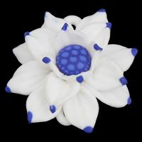 Polymer Ton Schmuckverbinder, Blume, handgemacht, 1/1-Schleife, 49x46x20mm, Bohrung:ca. 2x1mm, 20PCs/Tasche, verkauft von Tasche