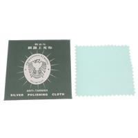 Stoff Silberpoliertuch, Quadrat, himmelblau, 80x75mm, verkauft von PC
