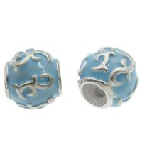 Cloisonné Großes Loch Perlen, Trommel, handgemacht, frei von Blei & Kadmium, 8x11mm, Bohrung:ca. 6mm, verkauft von PC