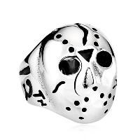 Edelstahl Herren-Fingerring, 316 L Edelstahl, Maske, verschiedene Größen vorhanden & Schwärzen, verkauft von PC