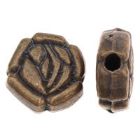 Zinklegierung Blumenperlen, antike Bronzefarbe plattiert, frei von Blei & Kadmium, 9x4mm, Bohrung:ca. 1mm, ca. 70PCs/Tasche, verkauft von Tasche