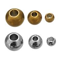 Edelstahl-Beads, Edelstahl, Trommel, plattiert, verschiedene Größen vorhanden, keine, 300PCs/Tasche, verkauft von Tasche