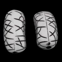 Antike Acrylperlen, Acryl, oval, antik imitieren, weiß, 18x35x17mm, Bohrung:ca. 3mm, ca. 70PCs/Tasche, verkauft von Tasche