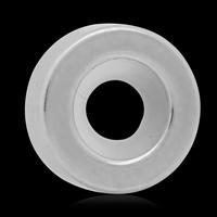 316 L Edelstahl Stopper-Perlen, mit Silikon, Rondell, 3x9mm, Bohrung:ca. 4mm, 10PCs/Tasche, verkauft von Tasche