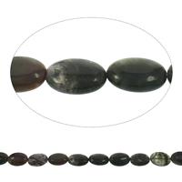 Natürliche Moos Achat Perlen, flachoval, 19x25x8mm, Bohrung:ca. 1mm, Länge:ca. 15.5 ZollInch, 10SträngeStrang/Tasche, ca. 16PCs/Strang, verkauft von Tasche