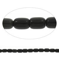 Schwarze Stein Perlen, schwarzer Stein, Zylinder, 13x17mm, Bohrung:ca. 1mm, Länge:ca. 15 ZollInch, 10SträngeStrang/Tasche, ca. 22PCs/Strang, verkauft von Tasche