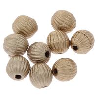 Sternenstaub Acrylpelen, Acryl, rund, gewellt & Falten, Goldfarbe, 6mm, Bohrung:ca. 1mm, ca. 4100PCs/Tasche, verkauft von Tasche